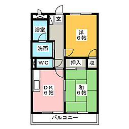 Seaside Fuji[2階]の間取り
