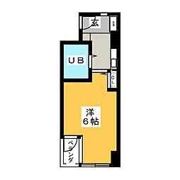セザール金山 501号室[5階]の間取り