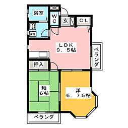ウッドフィールドII[3階]の間取り
