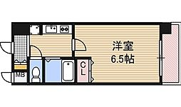 大阪府大阪市福島区海老江3丁目の賃貸マンションの間取り