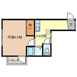 長野県長野市大字鶴賀七瀬の賃貸アパートの間取り