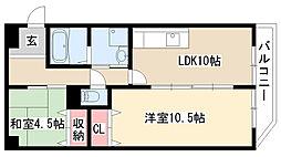 愛知県名古屋市緑区篭山1丁目の賃貸マンションの間取り