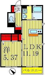 リラフォートA[1階]の間取り