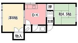三宝マンション[105号室]の間取り