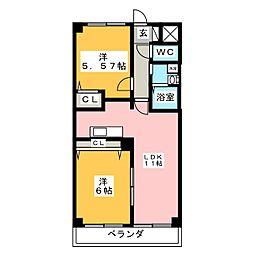 サンライズ勝川[2階]の間取り