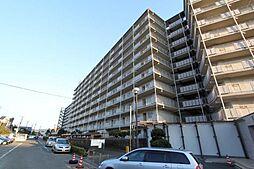 はざま台サンハイツ2号棟[9階]の外観
