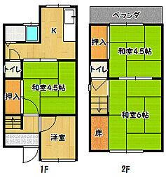 [一戸建] 兵庫県神戸市兵庫区下三条町 の賃貸【/】の間取り