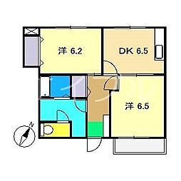 グラン・シェル1[1階]の間取り