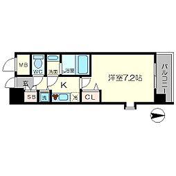 クラウンハイム北心斎橋フラワーコート[14階]の間取り