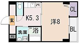 大阪府東大阪市菱屋西5丁目の賃貸マンションの間取り