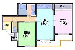 マノワール久貝[2階]の間取り