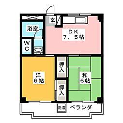 ポケットハウスワカマツ[3階]の間取り