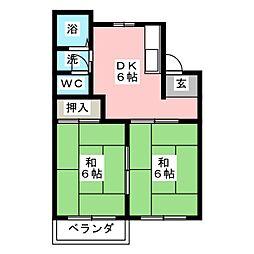 フォーブルたつみ[2階]の間取り