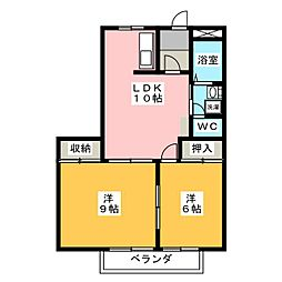 メゾングランディス 1号館[2階]の間取り
