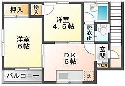 千葉県市川市大和田5丁目の賃貸アパートの間取り
