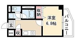 愛知県名古屋市瑞穂区洲山町3丁目の賃貸マンションの間取り
