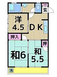パールマンション美奈元[205号室]の間取り