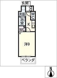仮)千種区東山通一丁目プロジェクト 2階1SKの間取り