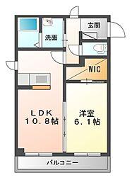 仮 姉崎東2丁目シャーメゾン[2階]の間取り