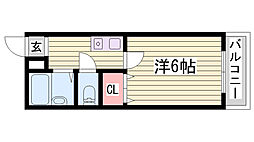 JR加古川線 社町駅 バス18分 依藤野駅下車 徒歩4分の賃貸マンション 3階1Kの間取り