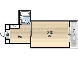 YSコート今福鶴見[5階]の間取り