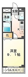 エムネージュ薬円台[2階]の間取り