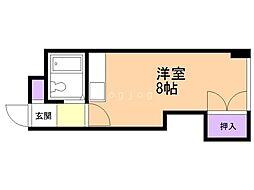 アーバンシティ札幌 4階ワンルームの間取り