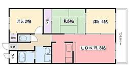 アンジュ東甲子園[902号室]の間取り
