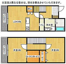 福岡県北九州市小倉北区日明1丁目の賃貸アパートの間取り