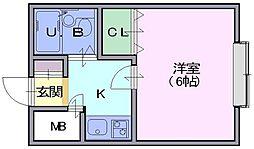 テンサー辰巳[305号室]の間取り