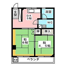 コーポ片倉[2階]の間取り