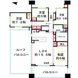国分寺ゼルクハウス[6階]の間取り