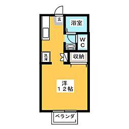 プランタン高柳[1階]の間取り