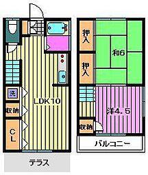 [テラスハウス] 埼玉県川口市青木4丁目 の賃貸【/】の間取り