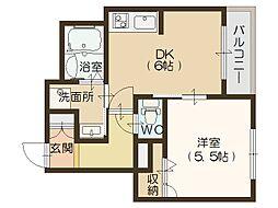 シャーメゾン SI[2階]の間取り