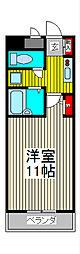 エム・ステージ白磁楼[2階]の間取り