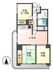 新栄町ハイツ[3階]の間取り