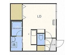 仮称)澄川2-3A棟 1階1Kの間取り