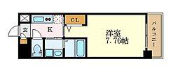 名古屋市営名城線 東別院駅 徒歩4分の賃貸マンション 9階1Kの間取り