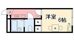 兵庫県西宮市松山町の賃貸アパートの間取り