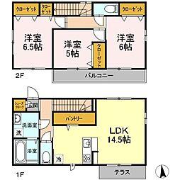 [一戸建] 東京都練馬区南田中3丁目 の賃貸【/】の間取り