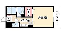 愛知県名古屋市南区六条町2丁目の賃貸アパートの間取り