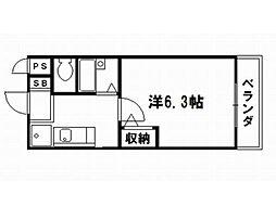 ハイポジション銀閣寺[3階]の間取り