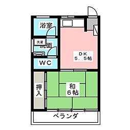 ラポール前田[3階]の間取り