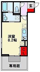 仮)D-room清納 1階ワンルームの間取り