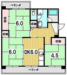 東大路高野第2住宅[3-506号室]の間取り