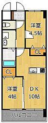 メディプラカーサ[4階]の間取り