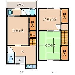 [一戸建] 奈良県奈良市尼辻中町 の賃貸【/】の間取り