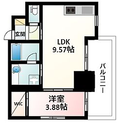 Osaka Metro御堂筋線 江坂駅 徒歩5分の賃貸マンション 19階1LDKの間取り
