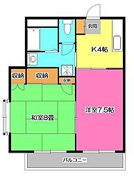 第三安田ビル[3階]の間取り